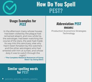 Correct spelling for pest