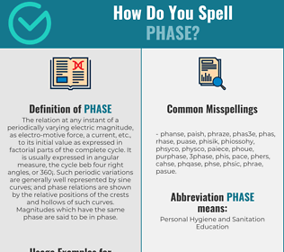 Correct spelling for phase