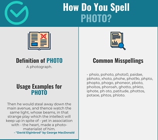 Correct spelling for photo