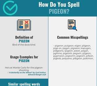 Correct spelling for pigeon