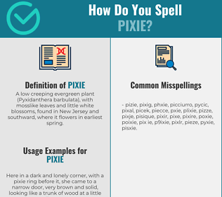 Correct spelling for pixie