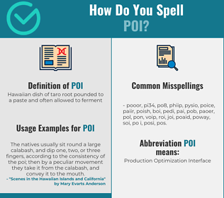 Correct spelling for poi