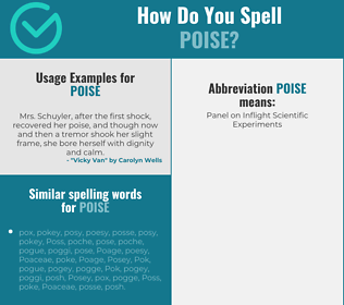 Correct spelling for poise