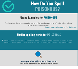 Correct spelling for poisonous