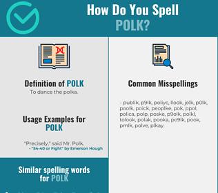 Correct spelling for polk