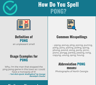 Correct spelling for pong