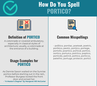 Correct spelling for portico