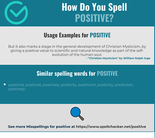 Correct spelling for positive