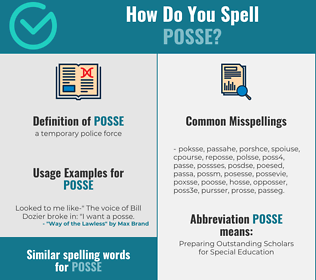Correct spelling for posse