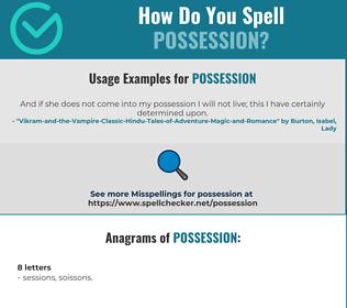 Correct spelling for possession