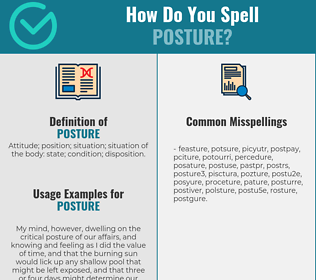 Correct spelling for posture