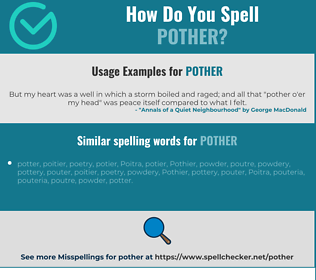 Correct spelling for pother