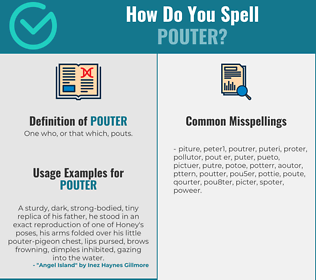 Correct spelling for pouter