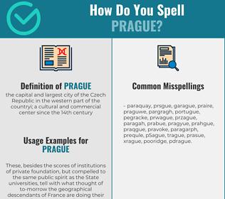 Correct spelling for prague
