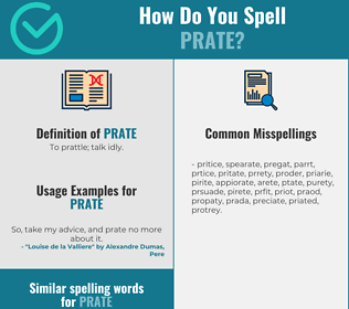 Correct spelling for prate