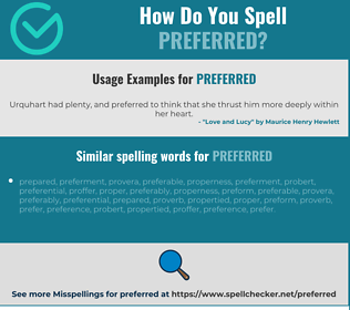 Correct spelling for preferred
