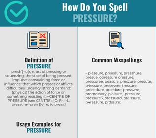 Correct spelling for pressure
