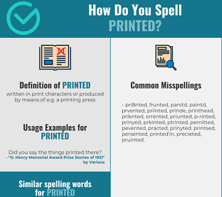 Correct spelling for printed