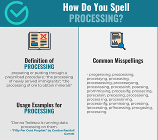 Correct spelling for processing