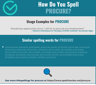 Correct spelling for procure