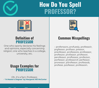 Correct spelling for professor
