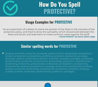 Correct spelling for protective