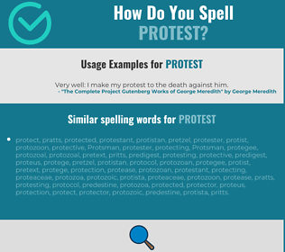 Correct spelling for protest
