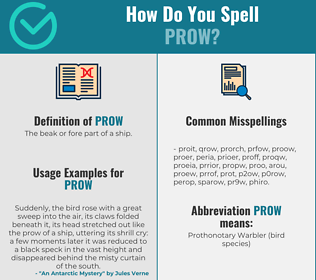 Correct spelling for prow