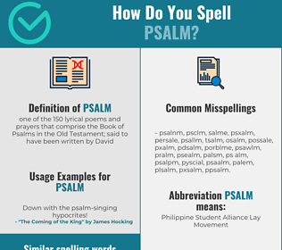 Correct spelling for psalm