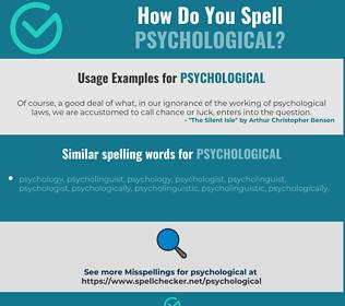 Correct spelling for psychological
