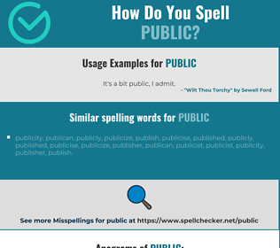 Correct spelling for public