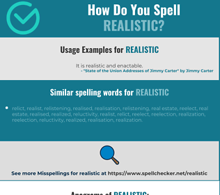 Correct spelling for realistic