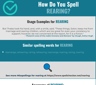 Correct spelling for rearing