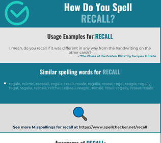 Correct spelling for recall