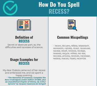 Correct spelling for recess