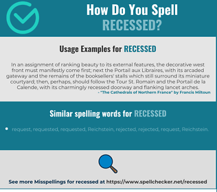 Correct spelling for recessed