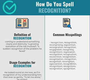 Correct spelling for recognition