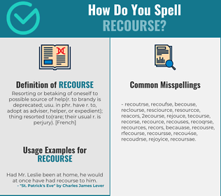 Correct spelling for recourse