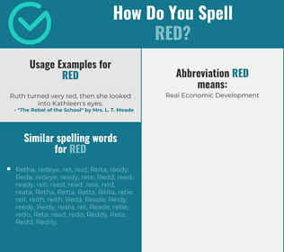 Correct spelling for red