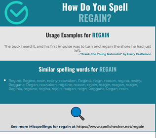 Correct spelling for regain