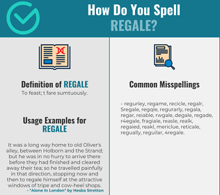 Correct spelling for regale