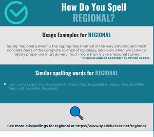 Correct spelling for regional