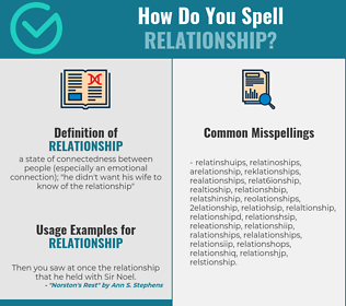 Correct spelling for relationship