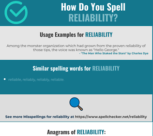 Correct spelling for reliability