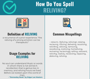 Correct spelling for reliving