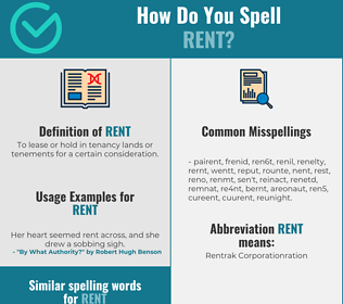 Correct spelling for rent