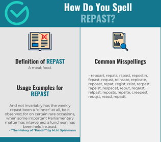 Correct spelling for repast