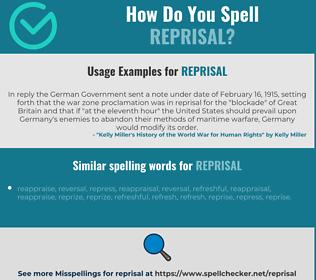 Reprisal Examples