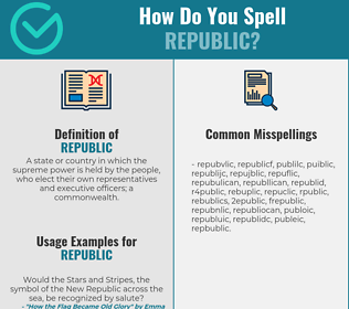 Correct spelling for republic