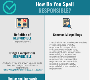Correct spelling for responsible